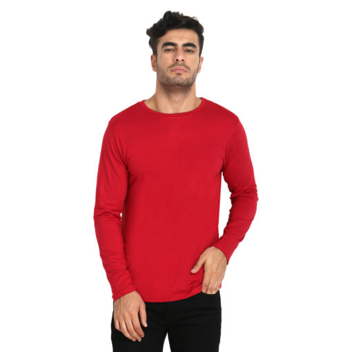 Naturefab Mens Bamboo Sun UV Protective Clothing Full sleeve T Shirt Red Maroon 3