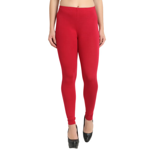 Naturefab Womens Sustainable Bamboo Fashion Leggings Red Maroon 1